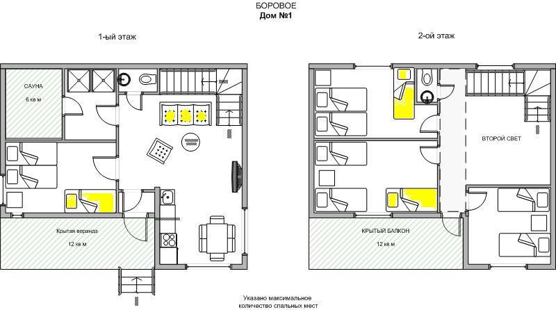 Дома одноэтажные: